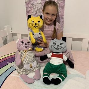 Zizi -öltöztethető cica baba madeirás szoknyával együtt (benorplaza) - Meska.hu