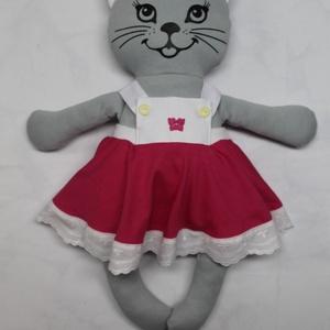 Zizi -öltöztethető cica baba madeirás szoknyával együtt, Játék & Gyerek, Baba & babaház, Öltöztethető baba, 45 cm-es világos szürke öltöztethető textil cica baba madeirás szoknyában. Cica baba anyaga: 70% pam..., Meska