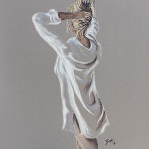 Érzéki (pasztell), Képzőművészet, Otthon & lakás, Festmény, Pasztell, Dekoráció, Festészet, Eredeti festmény a művésztől! \nPasztell ceruzával, pasztell papírra készült festmény. Mérete A4, kép..., Meska