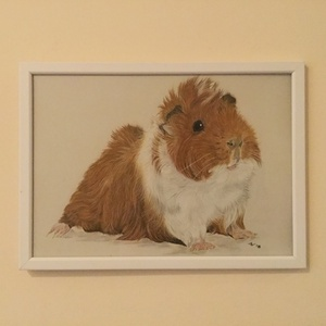 Tengerimalac/Guinea pig  (pastel) (bernadettebodiart) - Meska.hu