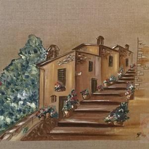 Tuscany, Otthon & lakás, Dekoráció, Képzőművészet, Kép, Festmény, Olajfestmény, Lakberendezés, Falikép, Festészet, Festett tárgyak, Olajfestmény, A3-as méret (30x40 cm), kiváló minőségű belga feszített lenvásznon.\nTuscany, oil on be..., Meska
