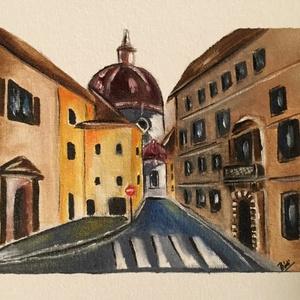 Florence, Italy , Otthon & lakás, Dekoráció, Képzőművészet, Kép, Festmény, Olajfestmény, Lakberendezés, Falikép, Festészet, Festett tárgyak, Olajfestmény, 18x24 cm, kiváló minőségű farosra kasírozott vásznon.\nKeret nélkül!\nBoat,  oil on canv..., Meska