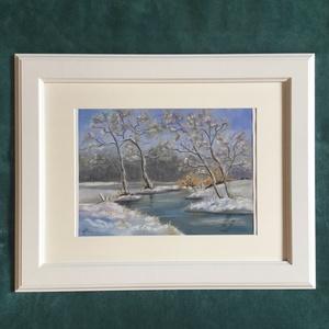 Winter (pasztell), Művészet, Festmény, Pasztell, Festészet, Eredeti festmény a művésztől! Eredetigazolással!\nPasztell technikával, pasztell papírra készült fest..., Meska