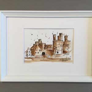 Caernarfon, Wales, Akvarell, Festmény, Művészet, Festészet, Eredeti akvarell festmény a művésztől! Eredetigazolással!\nA festmény megvásárolható a képen látható ..., Meska