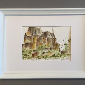 Luxemburg, Művészet, Akvarell, Festmény, Eredeti akvarell festmény a művésztől! Eredetigazolással! A festmény megvásárolható a képen látható ..., Meska