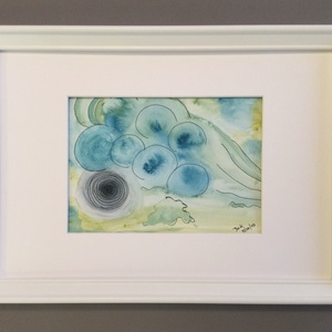 Flow, Művészet, Festmény, Akvarell, Festészet, Eredeti akvarell festmény a művésztől! Eredetigazolással!\nA festmény megvásárolható a képen látható ..., Meska