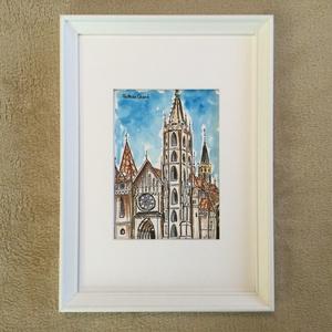 Mátyás templom, Művészet, Festmény, Akvarell, Festészet, Meska