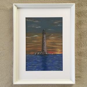 Lighthouse , Művészet, Festmény, Pasztell, Eredeti pasztell festmény a művésztől! Eredetigazolással! A festmény megvásárolható a képen látható ..., Meska