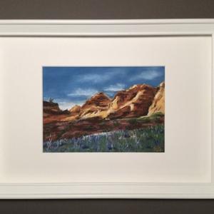 Red Cliffs State Park, Utah, Művészet, Festmény, Akvarell, Festészet, Eredeti pasztell festmény a művésztől! Eredetigazolással!\nA festmény megvásárolható a képen látható ..., Meska