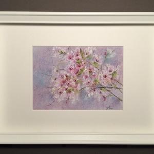 Cseresznyefa virágzás, Művészet, Festmény, Akvarell, Festészet, Meska