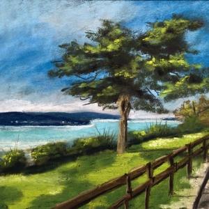 Balaton, Művészet, Festmény, Pasztell, Eredeti pasztell festmény a művésztől, eredetigazolással! Mérete:  -keret nélkül: 17x12 cm -kerettel..., Meska