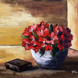 Rododendron, Művészet, Festmény, Pasztell, Eredeti pasztell festmény a művésztől! Eredetigazolással! A festmény megvásárolható a képen látható ..., Meska
