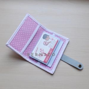Rózsaszín pöttyös-fehér, Kártyatartó, kártyarendező  (Bernizo) - Meska.hu