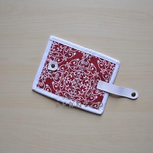 Piros fehér mintás kártyatartó/kártyarendező (Bernizo) - Meska.hu
