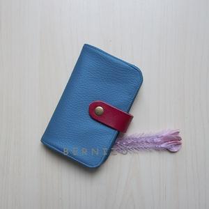 Kék textilbőr kártyatartó/kártyarendező (Bernizo) - Meska.hu
