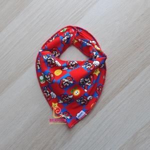 Piros-kék mintás nyálkendő/babakendő, Ruha & Divat, Babaruha & Gyerekruha, Előke & Nyálkendő, Varrás, Baba-Mama kiváló hasznát veheti, ha a Babád fogacskái bújni kezdenek.\n\nHasználhatod csak előkeként, ..., Meska