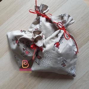 Rudolf mintás karácsonyi zsák szett 3 db-os, Otthon & Lakás, Karácsony & Mikulás, Karácsonyi csomagolás, Varrás, Mintás pamutvászonból készült zsák mikulásra, karácsonyra.\n\nA szett tartalma 3 db zsák\n\n\nMérete\n1 db..., Meska