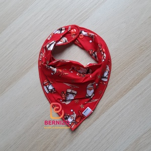 Piros mikulásos nyálkendő/babakendő, Előke & Nyálkendő, Babaruha & Gyerekruha, Ruha & Divat, Varrás, Baba-Mama kiváló hasznát veheti, ha a Babád fogacskái bújni kezdenek.\n\nHasználható előkeként, vagy a..., Meska