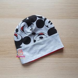 Micke Mouse sapka, Babasapka, Babaruha & Gyerekruha, Ruha & Divat, Varrás, Vagány beanie sapka kétrétegű elasztikus anyagból.\nKellemes viselet átmeneti öltözékként tavasztól ő..., Meska