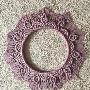 Nagy méretű Mandala, Otthon & Lakás, Dekoráció, Mandala, Makramé technikával készült Lilac színű nagy méretű mandala. Fa karikára csomózott, 100 % újrahaszno..., Meska