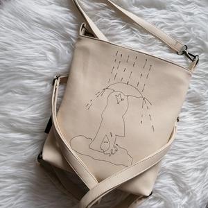 Textilbőr táska, Variálható táska, Táska & Tok, Varrás, Új termék! Méretében is! :) \n4in1-ben textilbőr táska. \nA 3 db, állítható hosszúságú pántjának köszö..., Meska