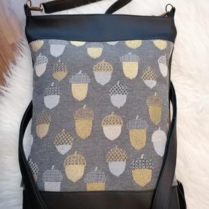 Textilbőr táska, Táska & Tok, Variálható táska, Varrás, ÚJ!\n4in1-ben textilbőr táska. \nA 3 db, állítható hosszúságú pántjának köszönhetően hordható kézi-/ v..., Meska