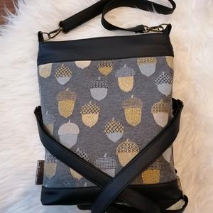 Textilbőr táska, Táska & Tok, Kézitáska & válltáska, Válltáska, Varrás, Új termék! Méretében is! :) \n4in1-ben textilbőr táska. \nA 3 db, állítható hosszúságú pántjának köszö..., Meska