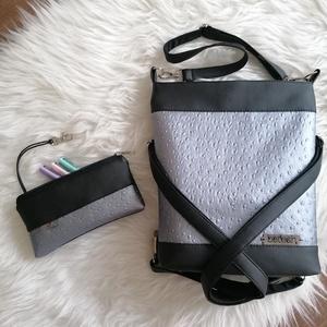 Textilbőr táska, Táska & Tok, Kézitáska & válltáska, Válltáska, Varrás, Új termék! Méretében is! :) Szettben!!! \n4in1-ben textilbőr táska. \nA 3 db, állítható hosszúságú pán..., Meska