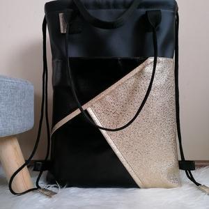 Textilbőr táska, Táska & Tok, Kézitáska & válltáska, Válltáska, Varrás, ÚJ!\nShopper- shoulder- gymbag\n\n\nEgyedi termék. :)\nNem utánrendelhető.\n\nKülönleges alapanyagokból, ké..., Meska