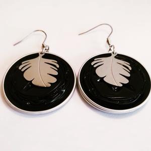 Ginko Kapszula Fülbevaló; Steel Symbol Kollekció, Ékszer, Lógó fülbevaló, Fülbevaló, Ékszerkészítés, Újrahasznosított alapanyagból készült termékek, Meska