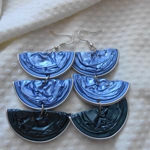 Kékség Kapszula Fülbevaló, Ékszer, Lógó fülbevaló, Fülbevaló, Ékszerkészítés, Újrahasznosított alapanyagból készült termékek, Meska
