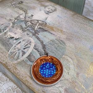 Kék-kert Kapszula Nyaklánc; WIN Kollekció, Ékszer, Medálos nyaklánc, Nyaklánc, Ékszerkészítés, Újrahasznosított alapanyagból készült termékek, Meska