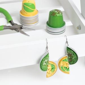 Citrus Kapszula Fülbevaló, Ékszer, Lógó fülbevaló, Fülbevaló, Ékszerkészítés, Újrahasznosított alapanyagból készült termékek, Meska