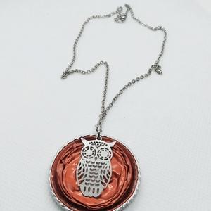 Baglyos kapszula nyaklánc - Steel Symbol kollekció  , Ékszer, Medálos nyaklánc, Nyaklánc, Ékszerkészítés, Újrahasznosított alapanyagból készült termékek, Meska
