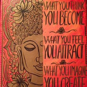 Inspiráló kép, Dekoráció, Otthon & lakás, Kép, Képzőművészet, Lakberendezés, Festészet, Mindenmás, Rendkívül jó hatással van nap mint nap ránézni a pozitív gondolatokat üzenő táblára,amelett,hogy tök..., Meska