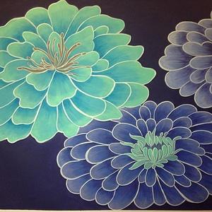 Dekorációs festmény, Olajfestmény, Festmény, Művészet, Festészet, Egyedien lakásbelsőhöz tervezett szín és formavilág,ami fantasztikus színfoltja a szobának.\nKeret né..., Meska