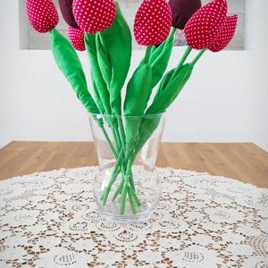 Textil tulipán csokor, bimbós, Otthon & Lakás, Dekoráció, Asztaldísz, Textil tulipán csokor, bimbós, 7db/csokor Szívesen elkészítek bármilyen szín, minta variációt...., Meska