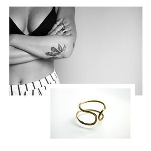 sárgaréz gyűrű, Ékszer, Gyűrű, Ékszerkészítés, Ötvös, sárgaréz\ngyűrű\n\nbrass\nring\n\nméret: állítható, Meska