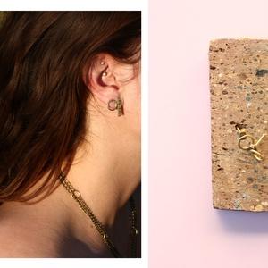 sárgaréz kör fülbevaló, Ékszer, Fülbevaló, Ékszerkészítés, Ötvös, sárgaréz fülbevaló\n\nbrass earring\n\nméret: 1cm, Meska