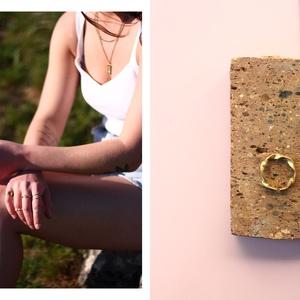 sárgaréz csavart gyűrű, Ékszer, Gyűrű, Ékszerkészítés, Ötvös, sárgaréz gyűrű\n\ncopper ring\n\nméret: állítható, Meska