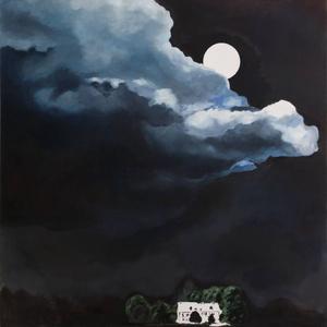 Hold, Olajfestmény, Festmény, Művészet, Festészet, Festményem, amit 2016- ban készítettem., Meska