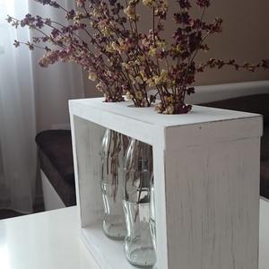 Három váza fa keretben (Bibodekoracio) - Meska.hu