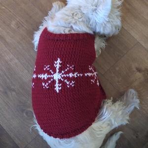 Kutya kabát, Otthon & Lakás, Kisállatoknak, Kutyáknak, Kötés, Kézzel kötött, pamut fonálból készül a kutyakabát. A képen látható egy M-es méret, de bármilyen mére..., Meska
