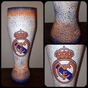 Real Madrid foci rajongói sörös pohár 500 ml , Otthon & lakás, Konyhafelszerelés, Férfiaknak, Focirajongóknak, Sör, bor, pálinka, Decoupage, transzfer és szalvétatechnika, Real Madrid foci rajongói sörös pohár 500 ml \n\nSör kedvelőknek kötelező kellék! Kiváló ajándék mikul..., Meska