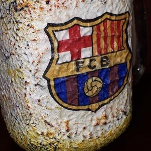 Fc Barcelona foci rajongói sörös korsó vagy szívószálas üveg kettő az egyben (Biborvarazs) - Meska.hu