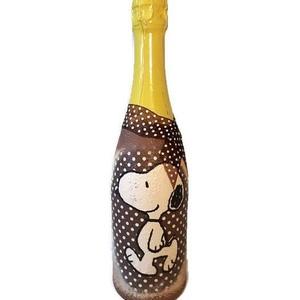 Snoopy  gyermek pezsgő ajándék gyermeknapra, szülinapra, névnapra, Babalátogató ajándékcsomag, Játék & Gyerek, Decoupage, transzfer és szalvétatechnika, Snoopy gyermek pezsgő ajándék gyermeknapra, szülinapra. Egyedileg feliratozható külön díj felszámítá..., Meska