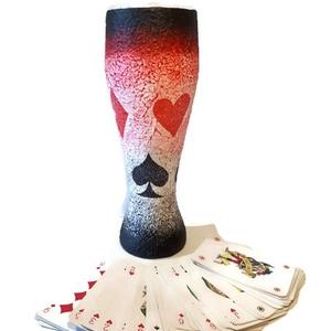 Póker sörös pohár ajándék ötlet kártyásoknak házavatóra, kártya partira, szülinapra, Otthon & Lakás, Pohár, Konyhafelszerelés, Póker sörös pohár ajándék ötlet kártyásoknak házavatóra, kártya partira, szülinapra (500 ml)  Sör és..., Meska