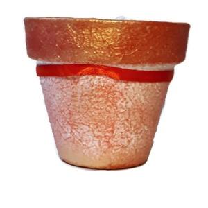 Köszönöm egyedi feliratos  kézzel festett kaspó, virágtartó bármilyen alkalomra virág mellé, piros. (Biborvarazs) - Meska.hu