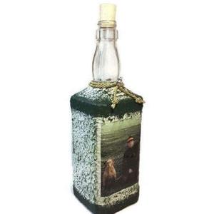Egyedi fényképes whiskys dísz- és használati italos üveg házavatóra, szülinapra, névnapra, ballagásra., Otthon & Lakás, Díszüveg, Dekoráció,  Egyedi fényképes whiskys dísz- és használati italos üveg házavatóra, szülinapra, névnapra, évfordul..., Meska
