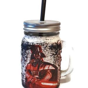 Star Wars - Darth Wader  füles bögre, korsó, üdítős pohár szívószálas fedővel, ajándék Csillagok háborúja rajongóknak.  (Biborvarazs) - Meska.hu